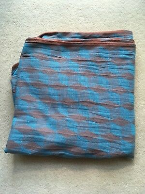 Didymos Wrap 100% Cotton Size 5 in teal and brown