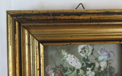 FRAME 12x15 cm GOLDEN VINTAGE WOODEN FOR PAINTINGS PAINTED MIRRORS SO1