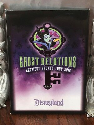 DISNEYLAND Ghost Relations Happiest Haunts Tour 2012 Button Pin Maleficent