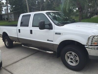2002 Ford F-350 Lariat 2002 Ford F-350 7.3L crew cab 4x4, White