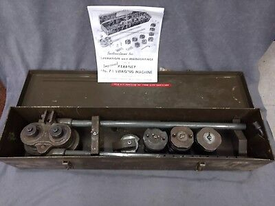 Kearney No 7-1 Roll Swaging Machine • Aircraft Cable • Dies/Case