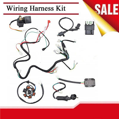 Wiring Harness Electrics Replacement Assembly Kit For Chinese GY6 ATV Scooter