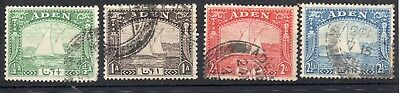 Aden Stamps 1937 4 Values Used
