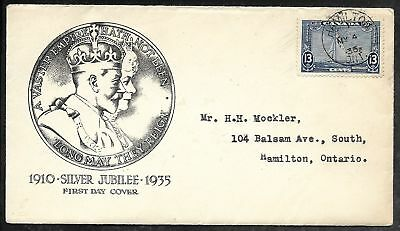 CANADA 1935 Silver Jubilee Issue FDC