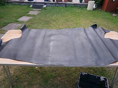 leather half hides black x 1 total 16.5 sq ft