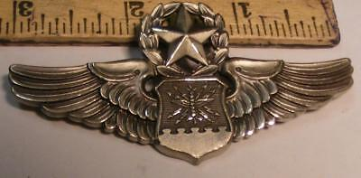 U.S. Air Force Sterling Silver Wings - Senior Navigator, Colonel + Nuclear Pin