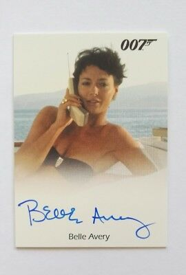 Belle Avery signed in Person 7x9cm COA Collectorcard James Bond 007