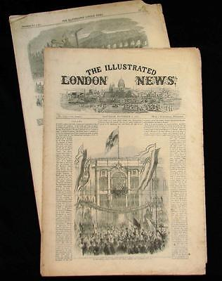 November , 1861 Illustrated London News Civil War America King Queen of Prussia