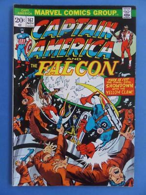 Captain America 167 1973 Very Nice!