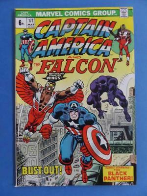Captain America 171 1974 Classic Cover Black Panther!