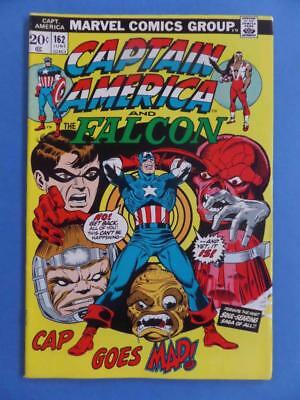 Captain America 162 1973 Cap Goes Mad! Lovely Vf/+