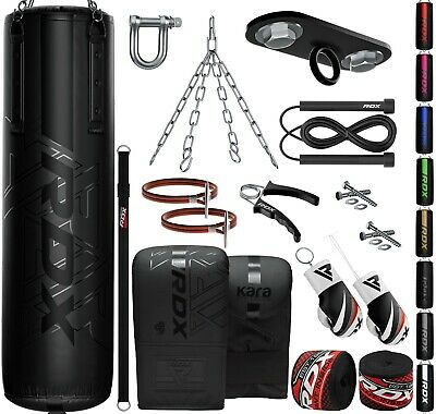 RDX Punching Bag Heavy Training Boxing Gloves Kit Hand Wraps MMA Focus Pads Kick