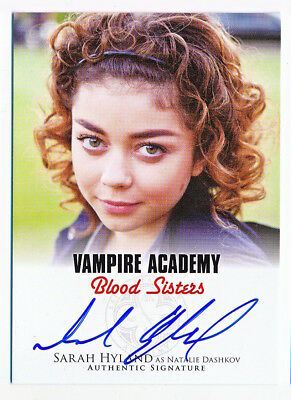 Vampire Academy Blood Sisters Sarah Hyland Autograph Auto #A-SH3 - QTY AVAIL