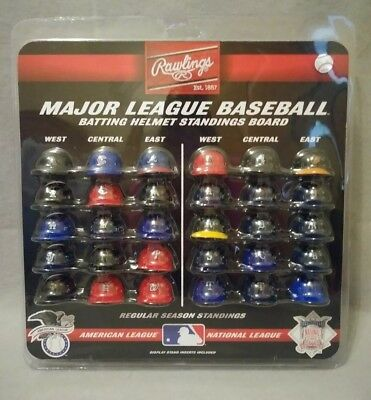 Rawlings Major League Baseball Batting Helmet Standings Board Mini Helmets New