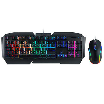 Rosewill RGB Gaming Keyboard and Mouse Combo, 9 Effects, 3200 DPI - Fusion C31