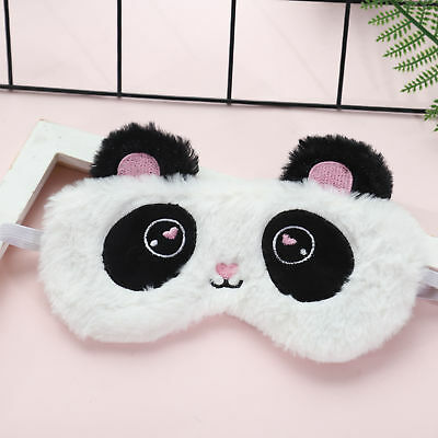 Fashion Plush Eye Mask White Panda Blindfold Eye Patch Airplane Nap Sleep Mask