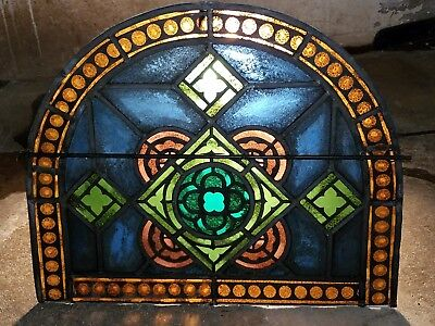 Gothic Fired Stained Glass Arch Window, Nyc Area Church