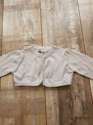 Little Baby Girls Silver shrug/Cardy by BHS.18-24.Mnths