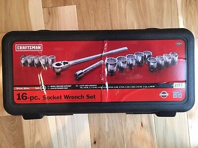 Craftsman USA MADE 19 Piece SAE (Inch) 3/4 Inch Drive Socket Wrench Set w/ Case