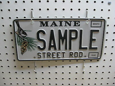 Maine Sample License Plate  Street Rod Collectible  SAMPLE