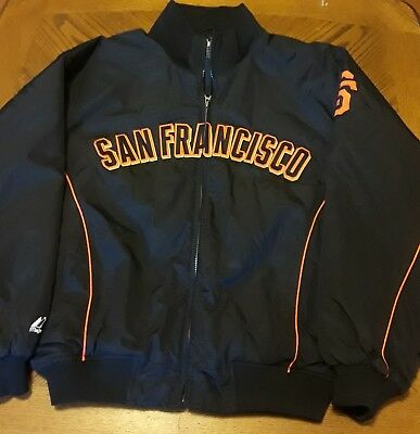 quality design c9b21 118ae VINTAGE SAN FRANCISCO Giants Jacket Majestic MLB Authentic Collection Size  Large