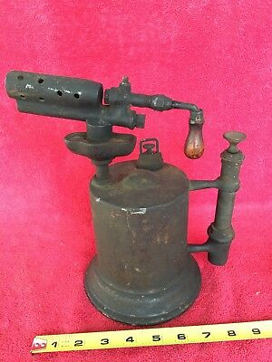 Old Vintage Brass Blow Torch Welding Plumbing Soldering Tool White Blowtorch