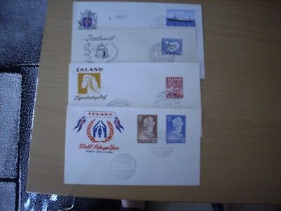 Island   LOT 4 FDC  ( 1 x R-Brief ) interessante Motive !