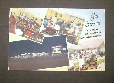 Vinatge Color Postcard Gus Stevens Restaurant & Supper Club Biloxi Mississippi