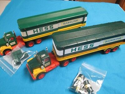 1975 and 1976 Hess Truck Both with Barrels