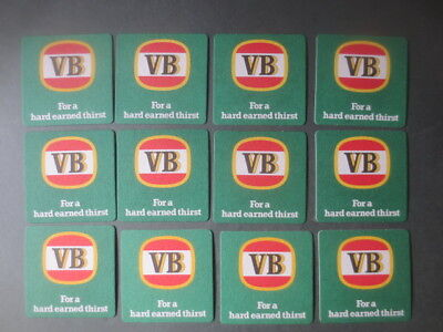 12 x VICTORIA BITTER  collectable COASTERS New condition V