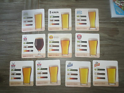 10 Different LION NATHAN BREWERY, / BEERS Issues collectable COASTERS