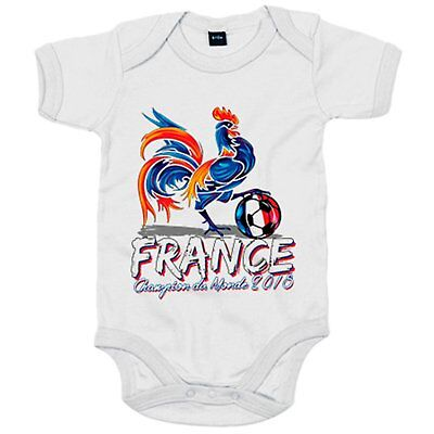 Body bebé France Champion du Monde 2018 les Bleus