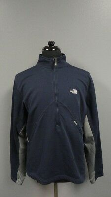 THE NORTH FACE Blue Gray Polyester Blend Half Zip Casual Jacket Size XL FF5405
