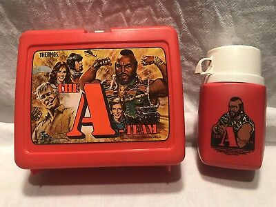 The A Team 1980's Used Lunch Box w/Thermos