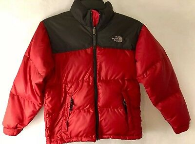 The North Face Youth Kids Size Medium Down Filled Puffer 600 Red Jacket