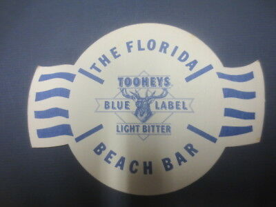 "1 only TOOHEYS  Brewery ,"" The Florida Beach Bar  ""  BEER Coaster  Q"