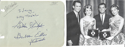 The Fleetwoods - Vintage In Person Genuine Hand Signed Album Page By All 3/image