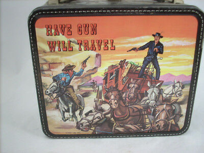 """Early 60's Vintage Paladin """"Have Gun Will Travel"""" Lunchbox"""