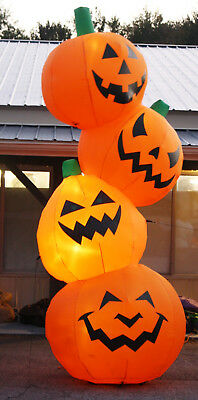 12' Tall Airblown Halloween Inflatable Pile of Giant Pumpkins