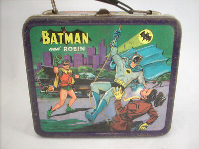 Vintage 60's Batman and Robin Lunch Box