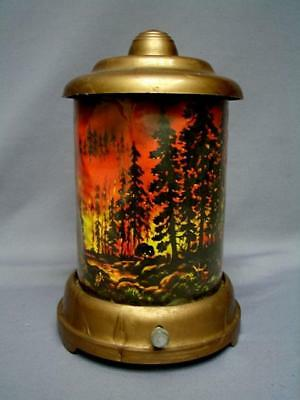 "Vintage A.b. Leech 1950 Electric Roto-Vue Jr Motion Lamp ""forest Fire"" Scene"