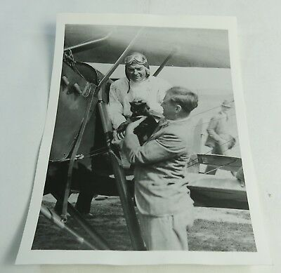 Vintage Tex Rankin Portland Oregon Flying with Black Cat Photograph
