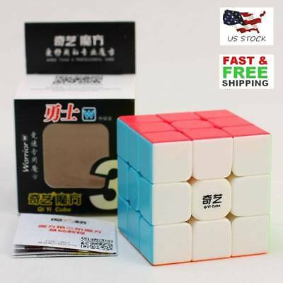 QiYi Warrior W 3x3x3 Magic Cube Stickerless Smooth Twist Speed Cube Puzzle US