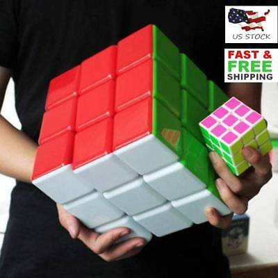 18cm Heshu 3X3X3 Extra Large Magic Cube Twist Puzzle Intelligence Toys US STOCK
