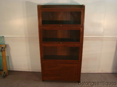 51288: Stickley Solid Cherry Barrister Style Bookcase