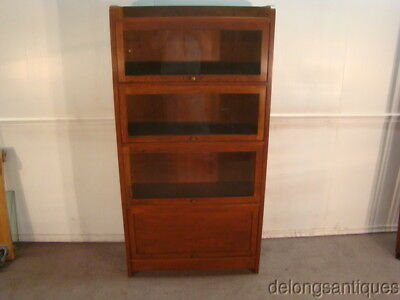 51287:Stickley Barrister Style Solid Cherry Bookcase