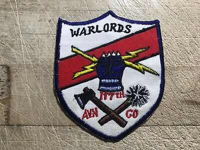 "1960s/Vietnam? US ARMY PATCH-117th Aviation Co. ""Warlords"" ORIGINAL BEAUTY!"