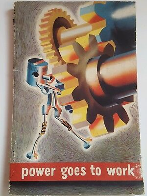 1945 Booklet General Motors Corp. Power Goes to Work Auto, Marine, Aircraft Book