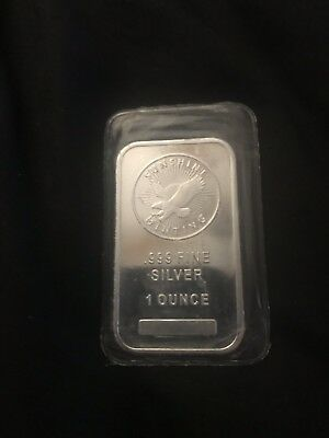 1 Troy oz Sunshine Mint .999 Fine Silver Bar  Sealed
