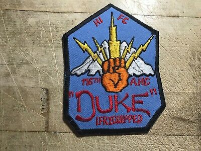 "1960s/1970s/Vietnam? US ARMY PATCH-116th AHC ""DUKE"" HI FC ORIGINAL BEAUTY!"